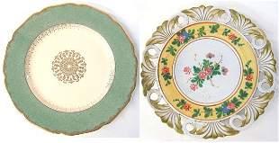 Johnson Bros platter plus Signed ceramic wall pla