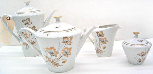 """2975: Fine Bavarian """"Tirschenreuth"""" coffee / tea set"""