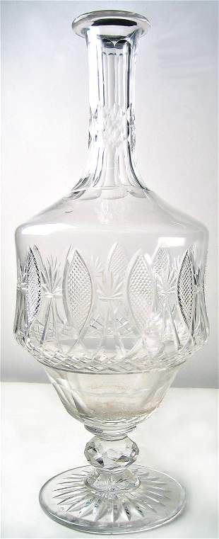 Cut glass decanter