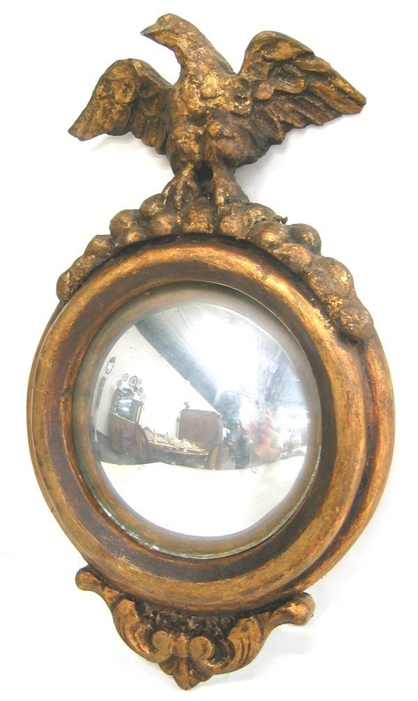 3067: Antique Federal style wood and giesso mirror