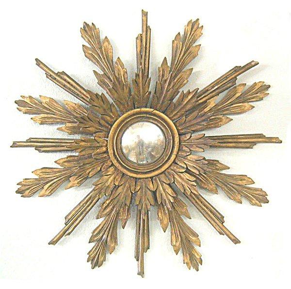 115: Sunburst mirror  early 1800s