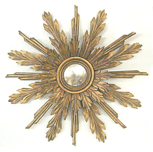 115: Sunburst mirror  early 1800s