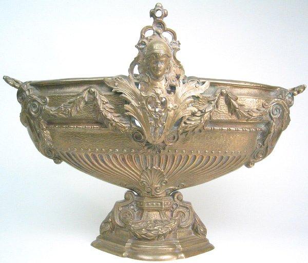 566: Solid brass Brass jardiniere