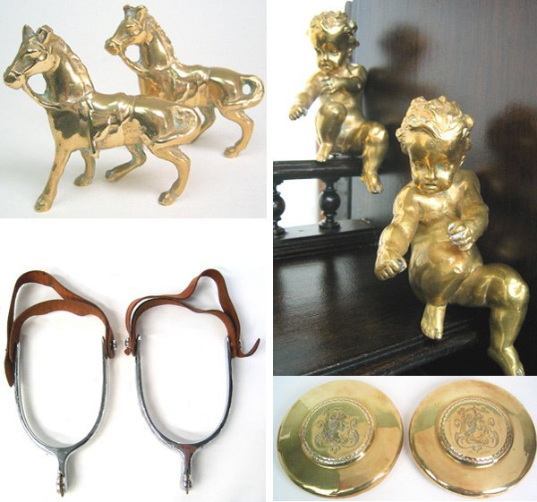 1004: Miscellaneous brass items