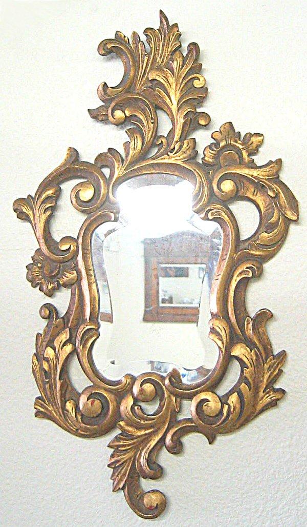 1182: Antique gilded mirror