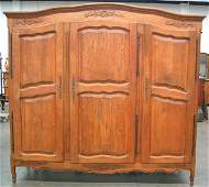1441 Oak French Provincial Country Armoire