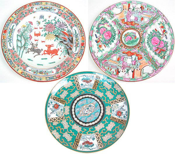 3003: Lot of Four Oriental porcelain plates
