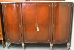 4044: Louis XV style side server with marble top