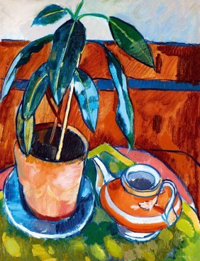 Fenyo Gyorgy, 1906-?, Still-life With A Red Pot, 1927