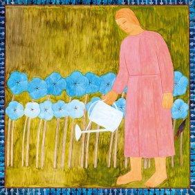 Ferenczy Noemi, 1890-1957, Woman Watering Flowers, 1934