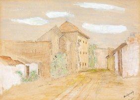 Mednyanszky Laszlo, 1852-1919, Village Street
