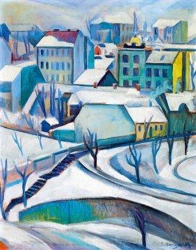 Schonberger Armand, 1885-1974, Winter Town (rose Hill)