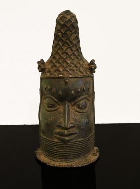 Benin. Ife people. Bronze head royal house 1850 1,8 kg.