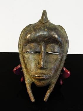 Burkina Faso. Bobo tribe 1850 circa. Bronze mask used