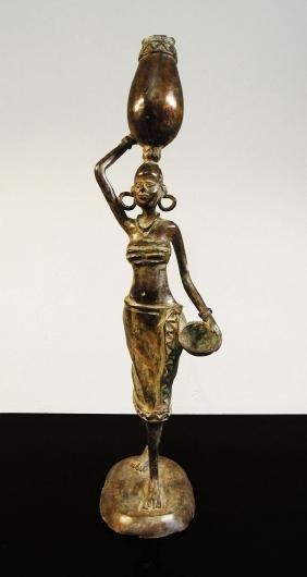 Niger. Tuareg people, 1930 Bronze statue of a woman