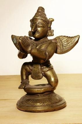 Nepal Garuda temple bronze statue. Early 1900 AD.