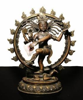 Nepal. Natraj Shiva  bronze statue. 1950 circa. 2,7 kg.