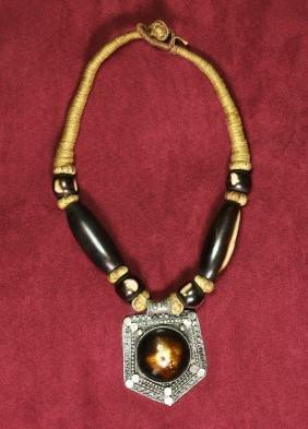 Chinese pendant carved bone HeilongJian province