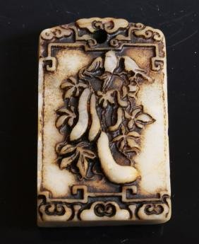 Chinese Jade pendant with flowers
