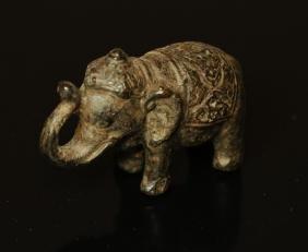 Sino-Indian bronze elephant 1700/1800 AD