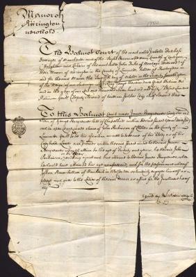 England Chappelhill Manuscript 1750