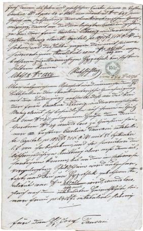 Lombardy-Venice Kingdom 1862 Manuscript document
