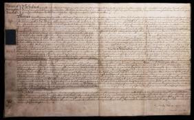 England Accrington 1753 Parchment Legal document