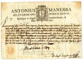 Benevento 1751 manuscript Archbishop Antonio Manerba