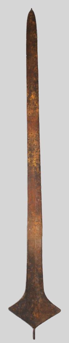 CONGO TOPOKE PEOPLE Iron currency sword shape 1900