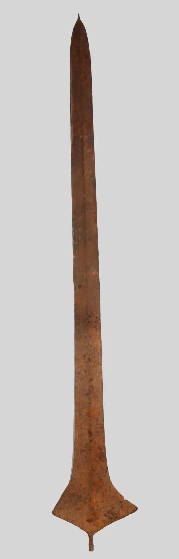 CONGO TOPOKE PEOPLE Iron currency sword shape 1901