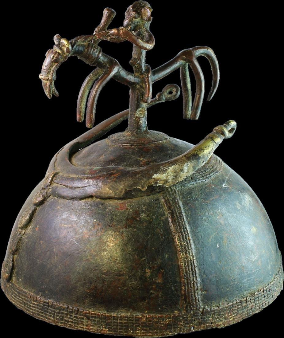 IVORY COAST RITUAL HAT OF ELITE DOGON TRIBES 1850 AD