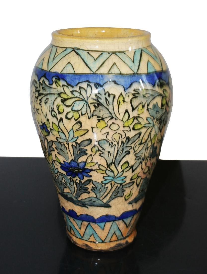 Persia Old porcelain vase. Bakhtiari people 26 cm