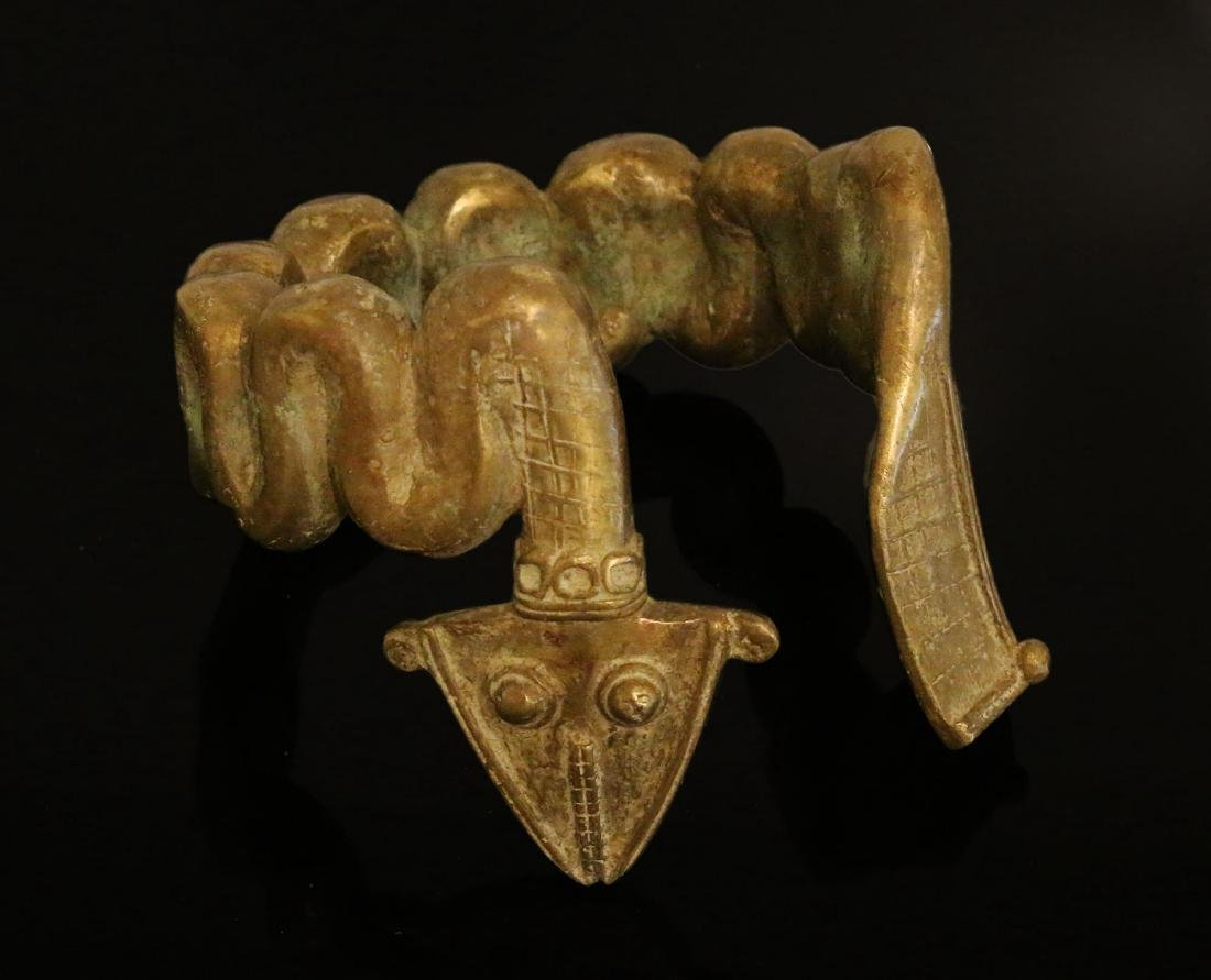 Burkina faso Bobo people Heavy Bronze manilla bracelet