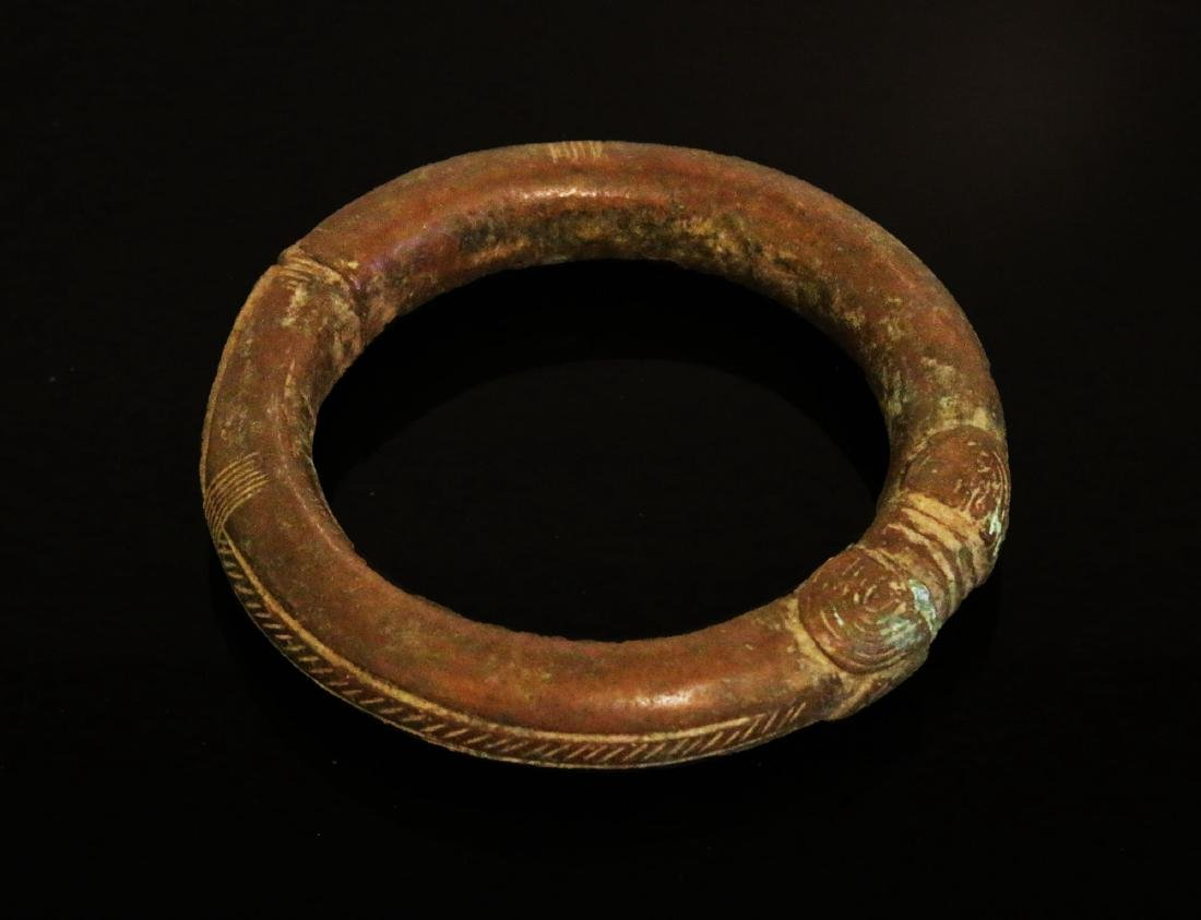 Nigeria Igbo people Bronze manilla bracelet 1900 circa.
