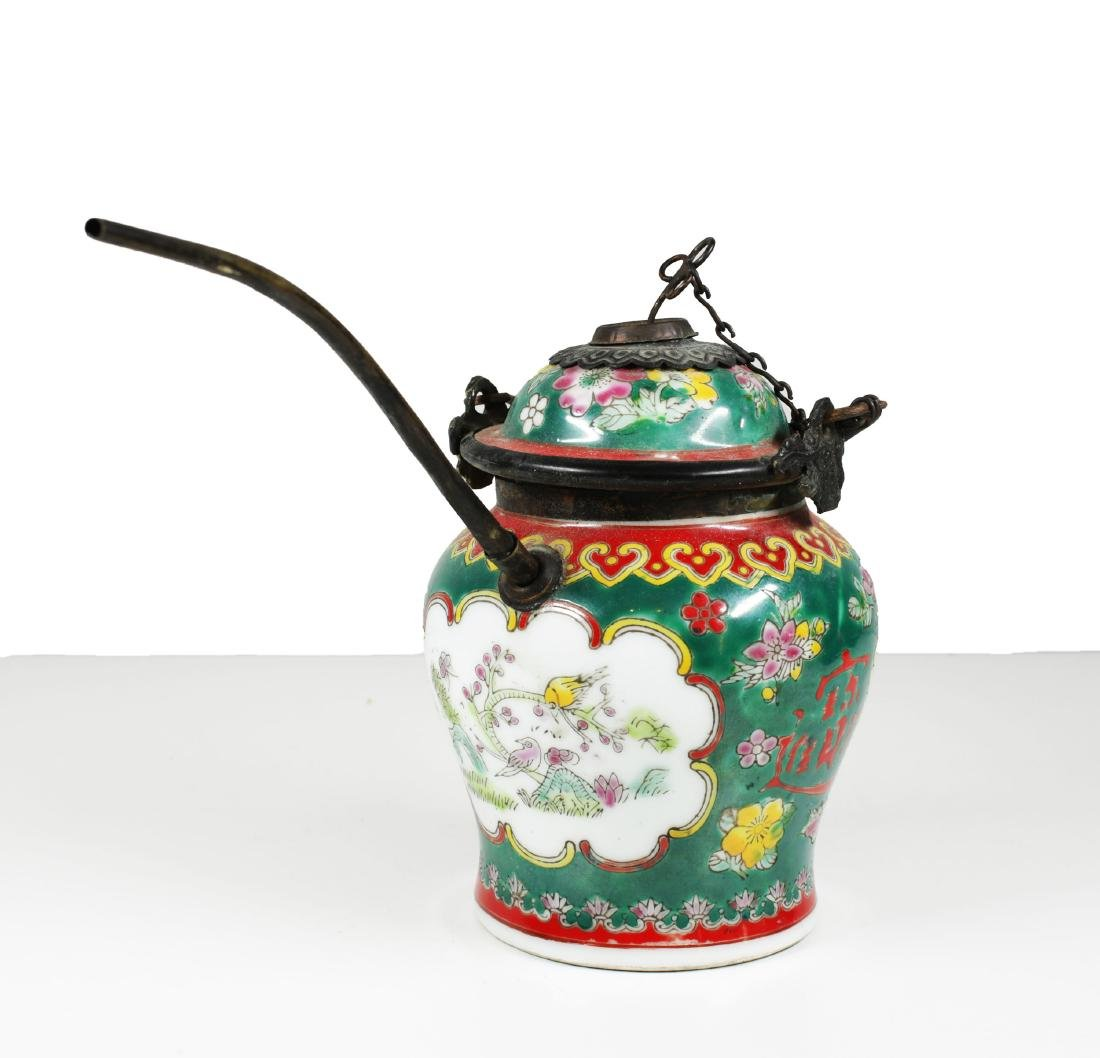 China Late Qing dynasty. Porcelain water pipe