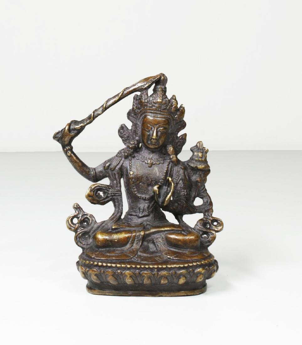 Tibet Bronze Buddha Statue 1930