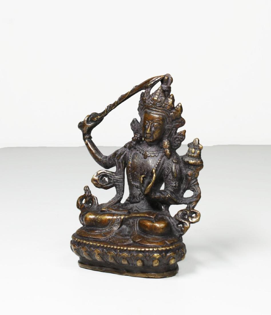 Tibet Bronze Buddha Statue 1930 - 2