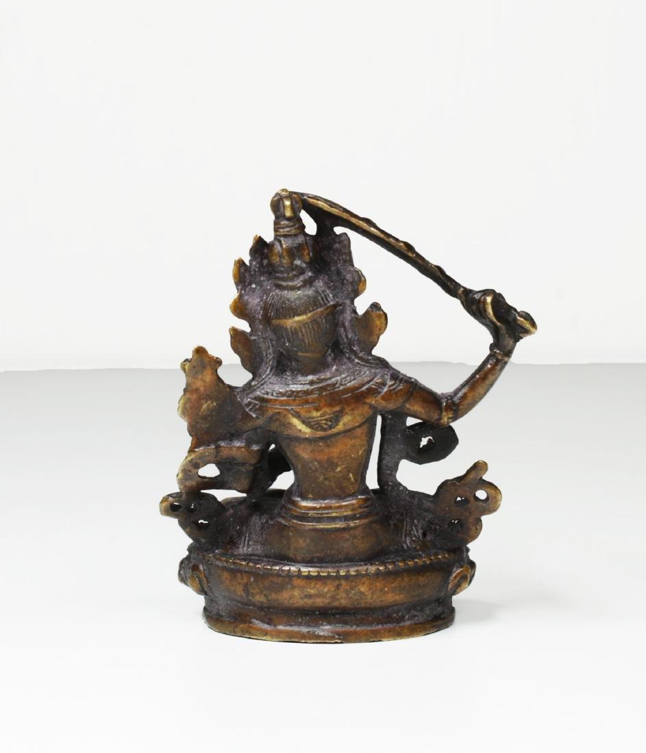 Tibet Bronze Buddha Statue 1930 - 4