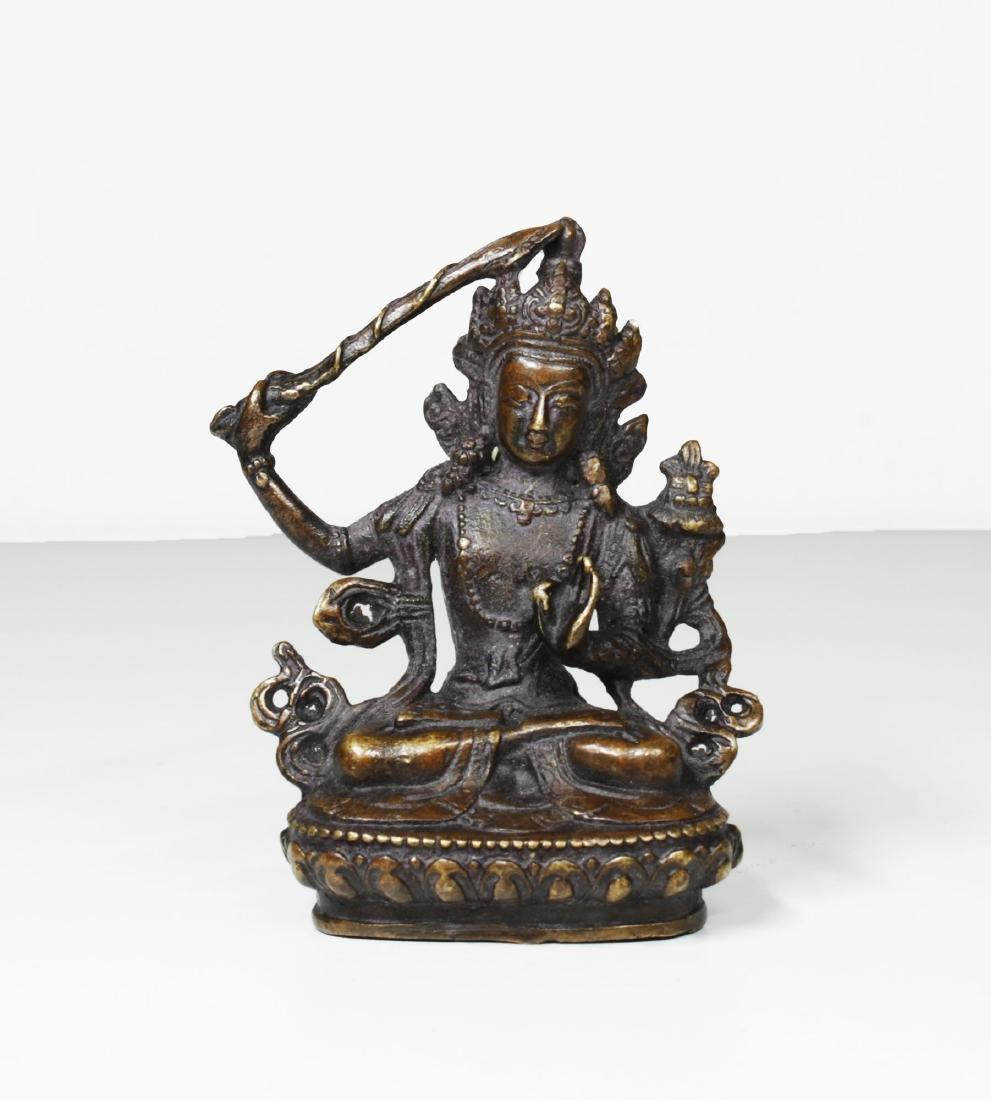 Tibet Bronze Buddha Statue 1930 - 7