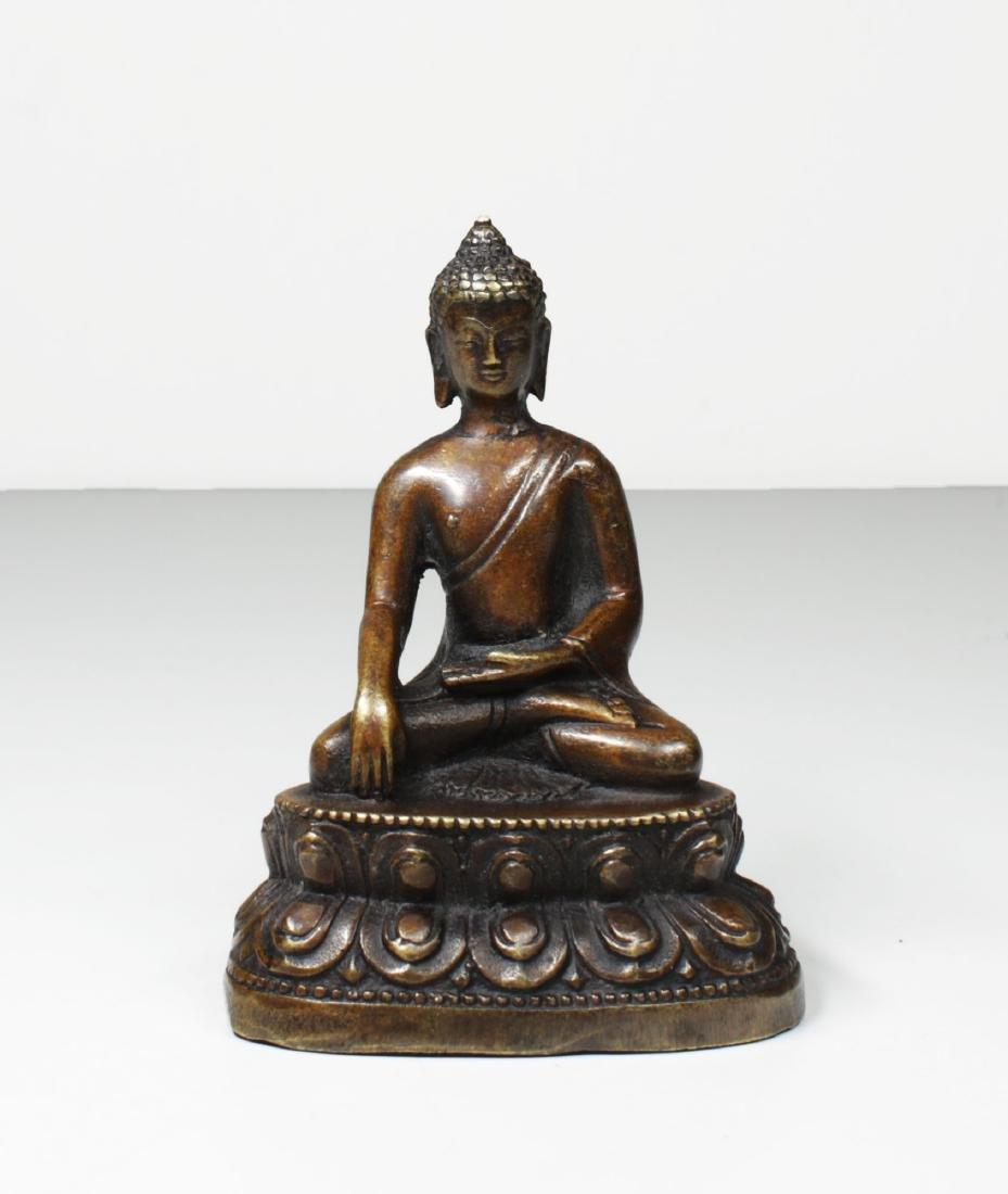 Tibet Bronze Gautama ÅšÄkyamuni Buddha Statue 1930