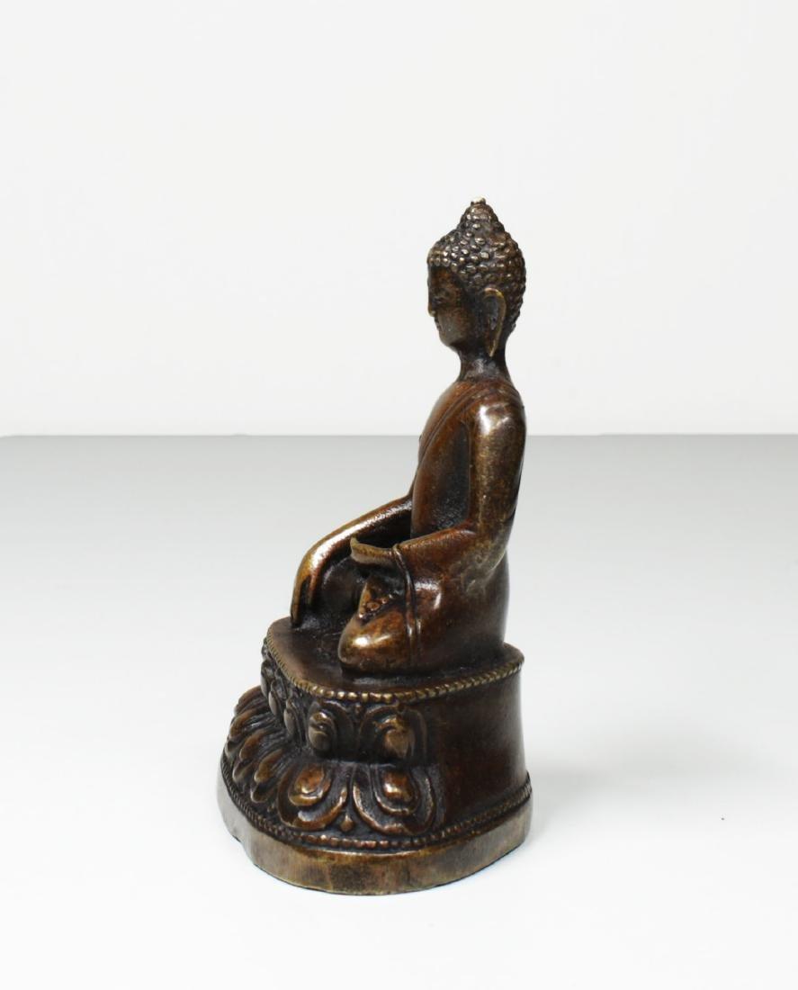 Tibet Bronze Gautama ÅšÄkyamuni Buddha Statue 1930 - 3