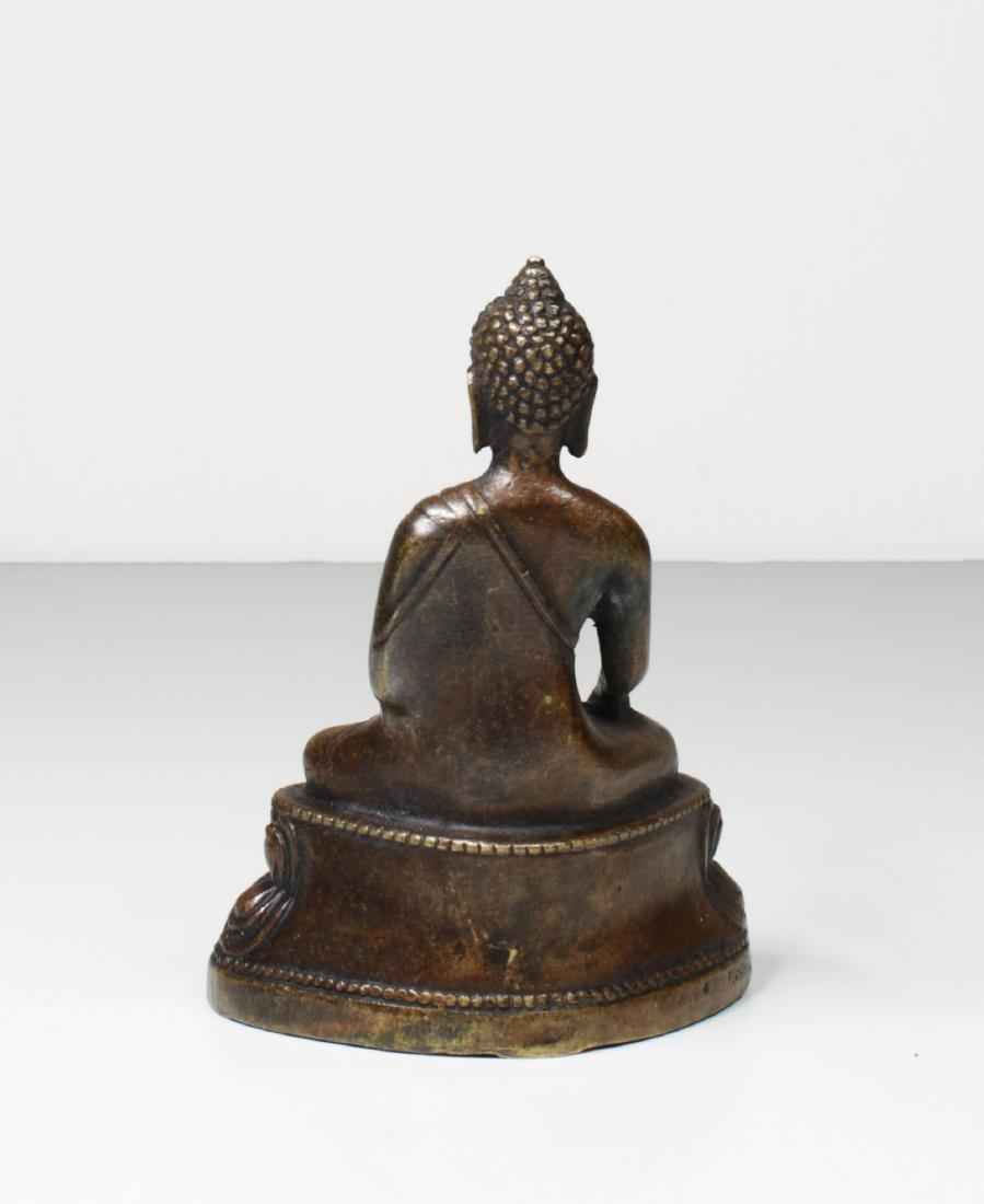 Tibet Bronze Gautama ÅšÄkyamuni Buddha Statue 1930 - 4