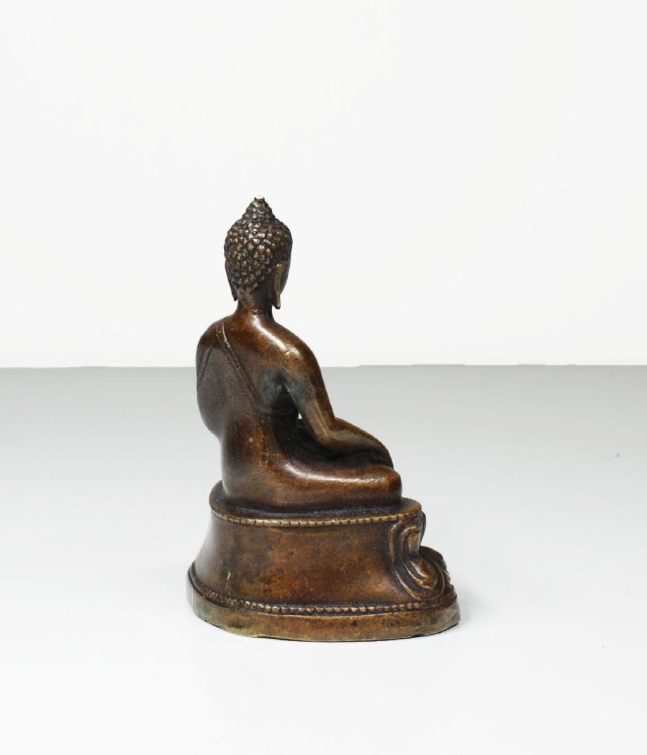 Tibet Bronze Gautama ÅšÄkyamuni Buddha Statue 1930 - 5