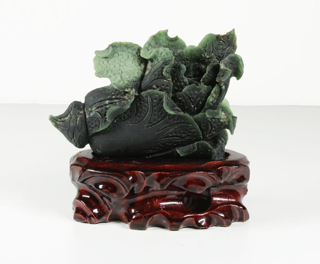 China Natural handcarved Hetian jade statue 300 gr