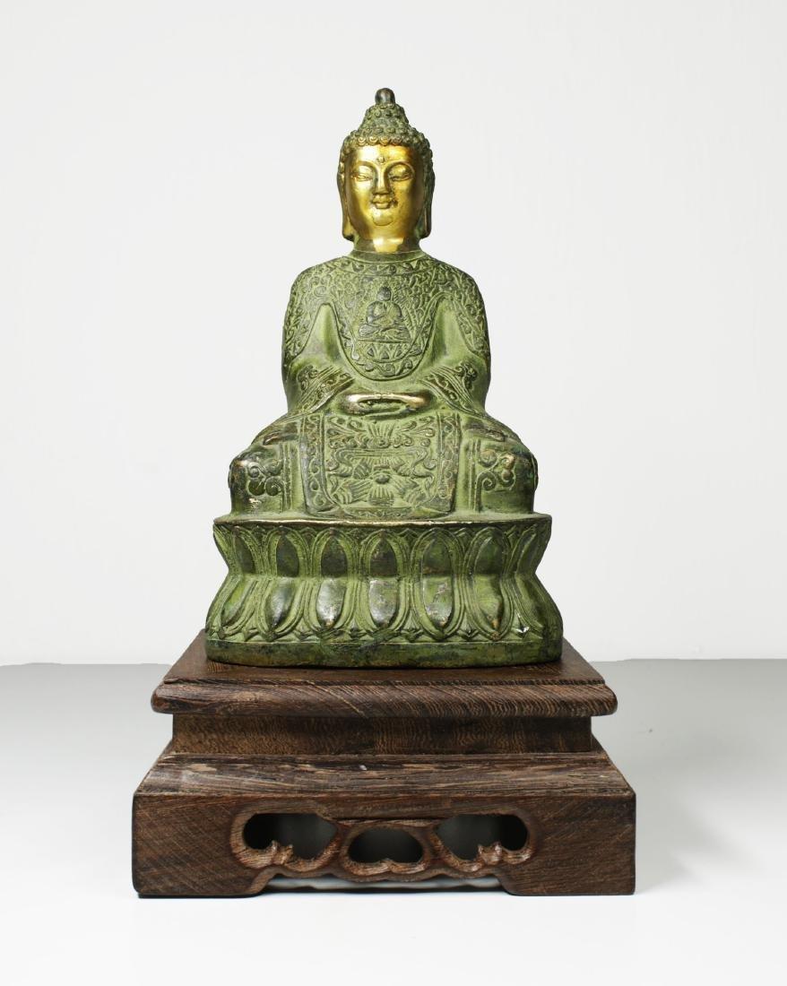 China Guanyin Bronze Buddha statue 1950 circa