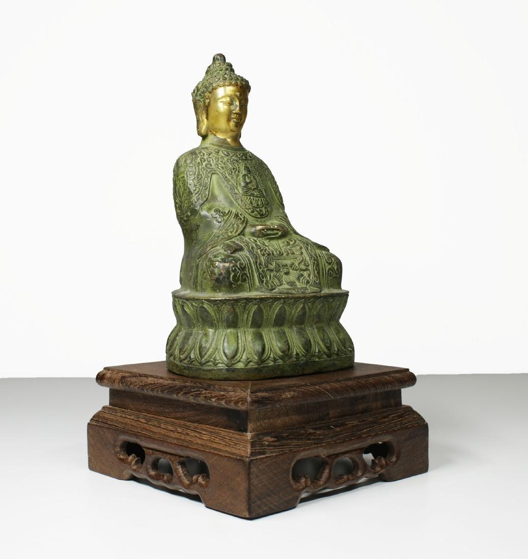 China Guanyin Bronze Buddha statue 1950 circa - 2