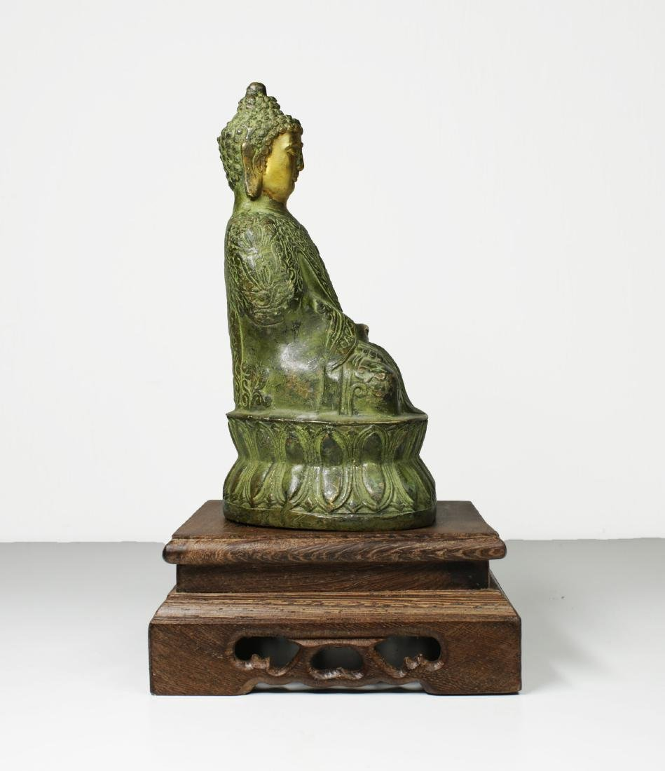 China Guanyin Bronze Buddha statue 1950 circa - 3