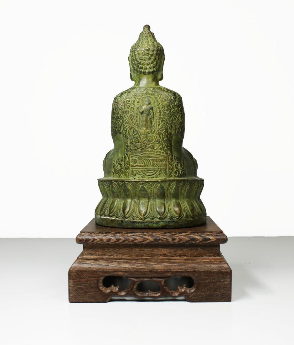 China Guanyin Bronze Buddha statue 1950 circa - 4