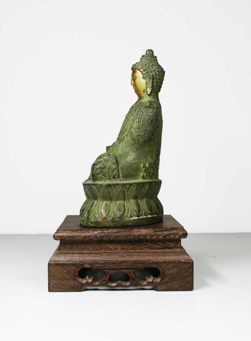 China Guanyin Bronze Buddha statue 1950 circa - 5