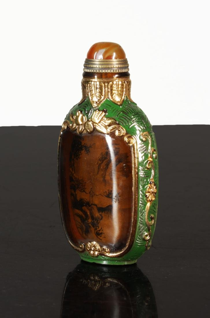 Exquisite Enamelled  glass snuff bottle. Qing dynasty - 4